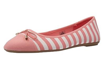 Andres Machado Damen Ballerinas - Gold Schuhe in Übergrößen, Größe:45