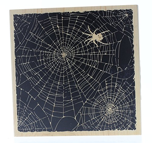 Hampton Art Halloween Spider Web Spooky Silhouette Stamp