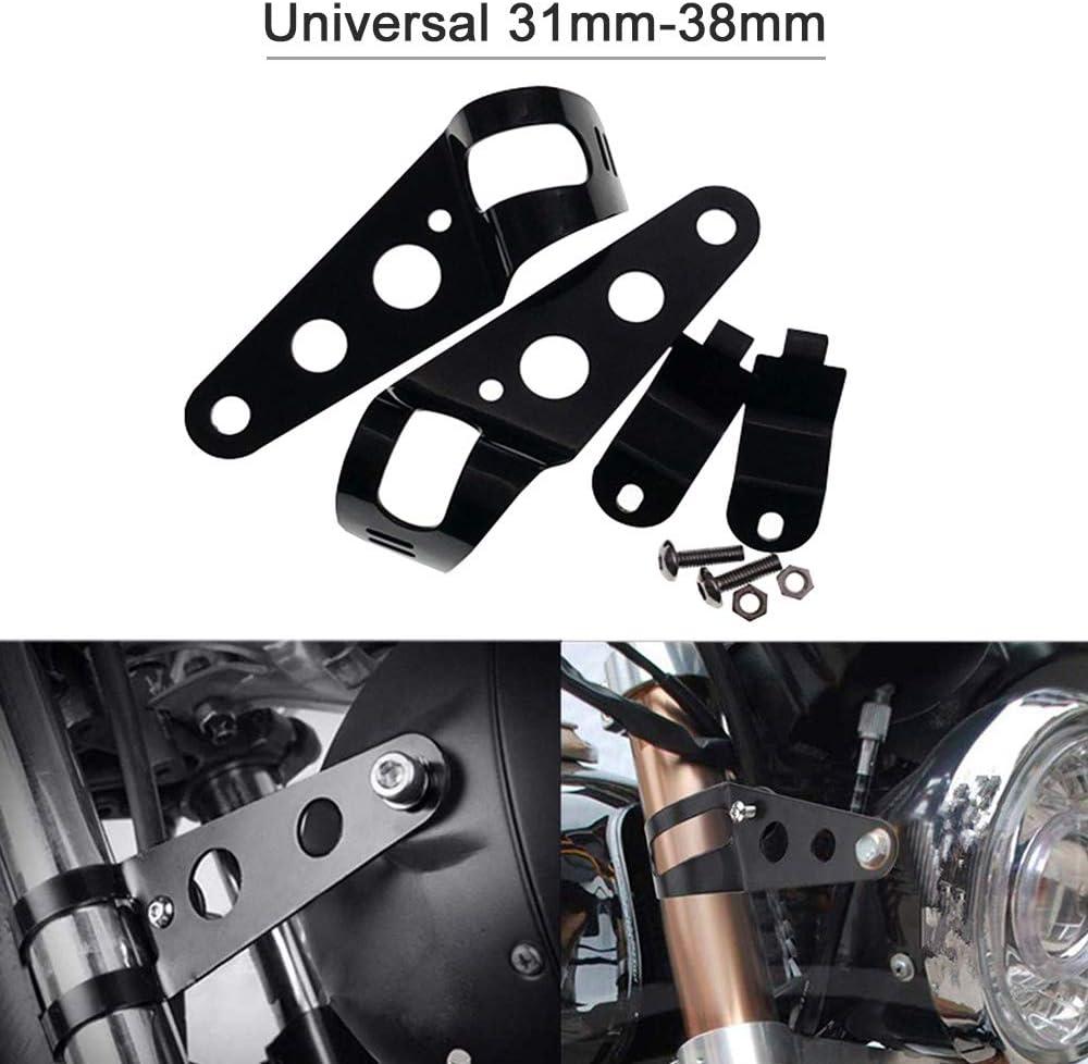 KKmoon Motorrad Scheinwerferhalter Gabeln Universal 31mm-38mm Schwarz