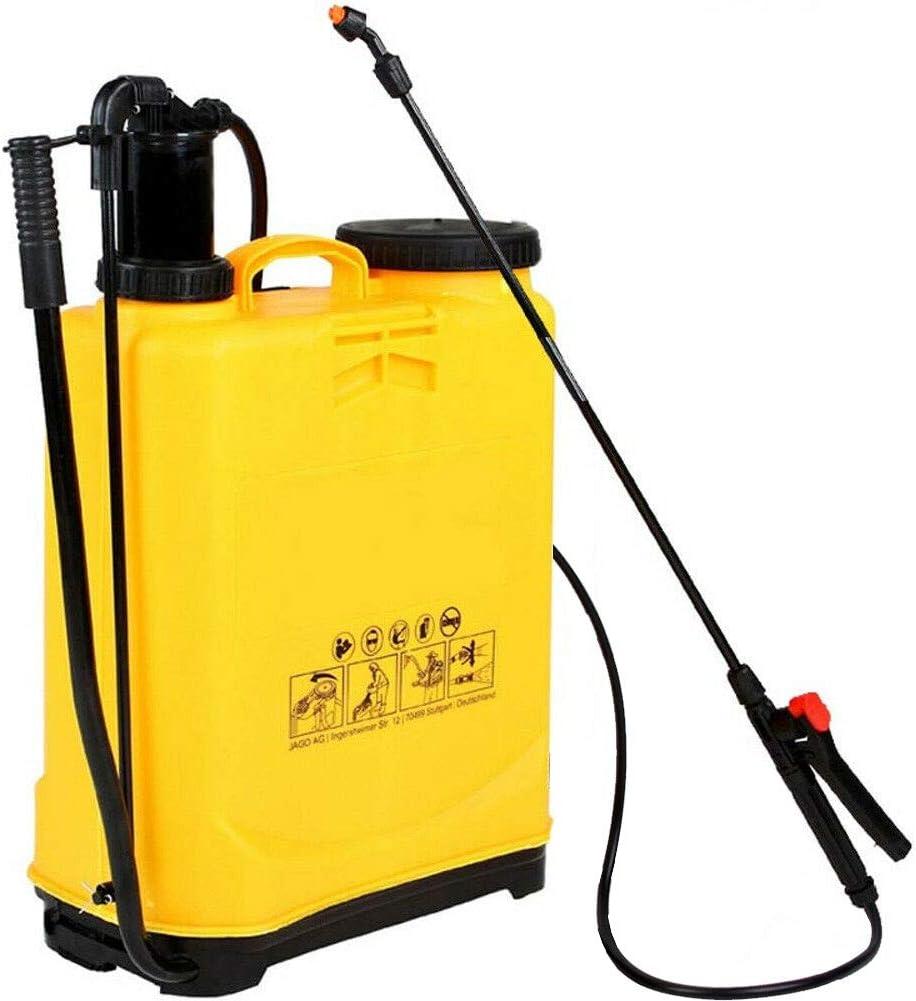 Bakaji Pulverizador de hombro de 16 litros, pulverizador de mochila con bomba