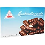 Joyva Marshmallow Twists Chocolate Covered Gluten Free 9 Oz. Pk Of 3.