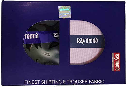 Raymond Men's Blended Unstitched Shirt and Trouser Material Combo Pack (Multicolour, Free Size)