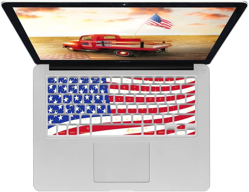 American Flag KB Covers Keyboard Cover for MacBook//Air 13//Pro USA-Flag-M-CC //Retina 2008+