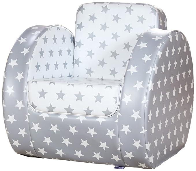 Silla en PVC color gris Kit for Kids SP9001 55 x 55 x 67 cm