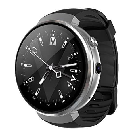 LEMFO Reloj Inteligente Redondo con Sim con GPS Bluetooth Tactil Telefono Smart Watch Sport Fitness Tracker