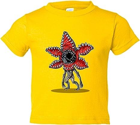 Camiseta niño Chibi Kawaii Stranger Things Demogorgon parodia - Amarillo, 3-4 años: Amazon.es: Bebé