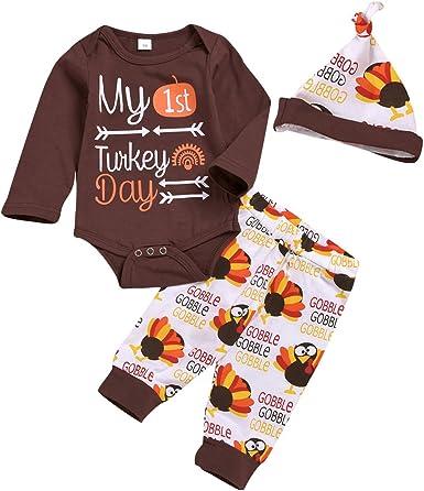 Carters Baby Boys Girls Thanksgiving Bib Brown Orange Layette Gift
