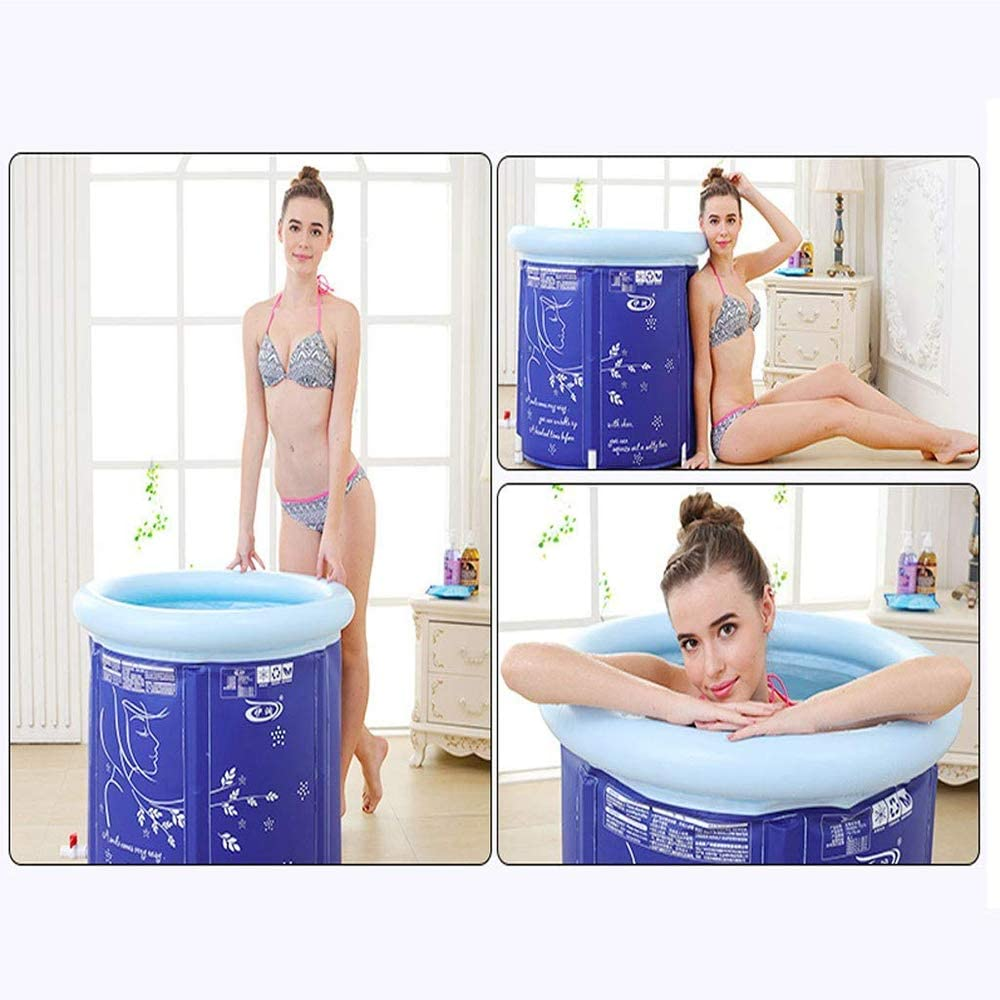 Japanese Soaking Bath Tub for Shower Stall 75cm,withoutlid Portable Plastic Bathtub Big Inflatable Flexible Adult Size Foldable,75