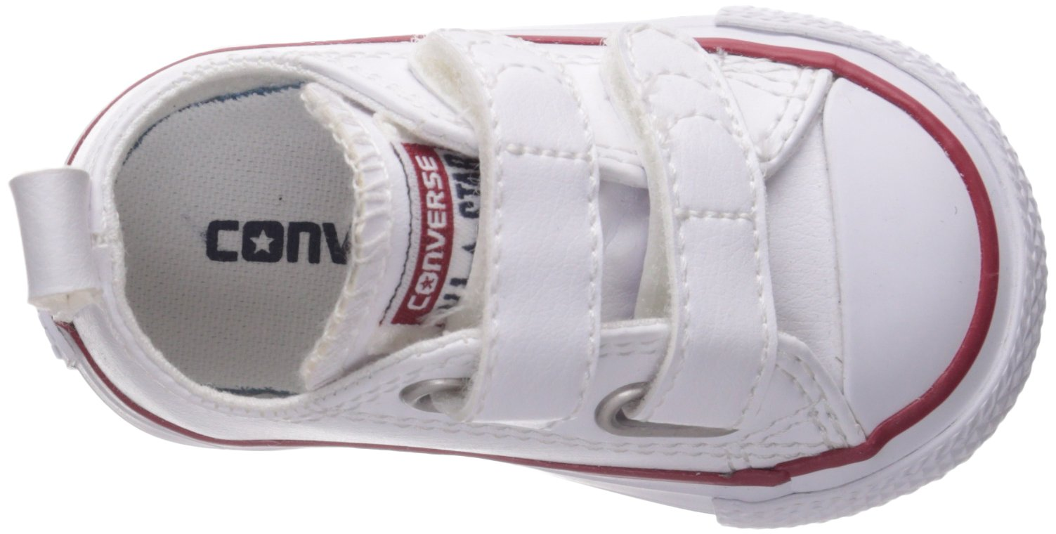 Converse Girl's Chuck Taylor All Star 2V Leather Low Top Shoe, White, 4 M US Toddler by Converse (Image #8)