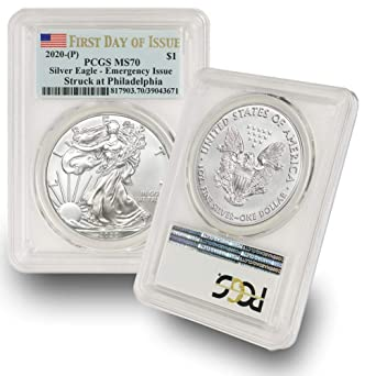 2020 P Emergency Issue American Silver Eagle PCGS MS70 First Strike