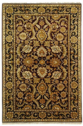 Safavieh Dynasty Collection DY244A Hand-Knotted Burgundy and Black Premium Wool Area Rug (6' x 9') - Dynasty Collection Area Rug