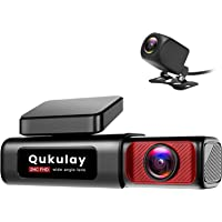 $89 » Qukulay 4K Dual Dash Cam with Built-in WiFi GPS, Front 4K Rear 1080P Dual Dash Camera…