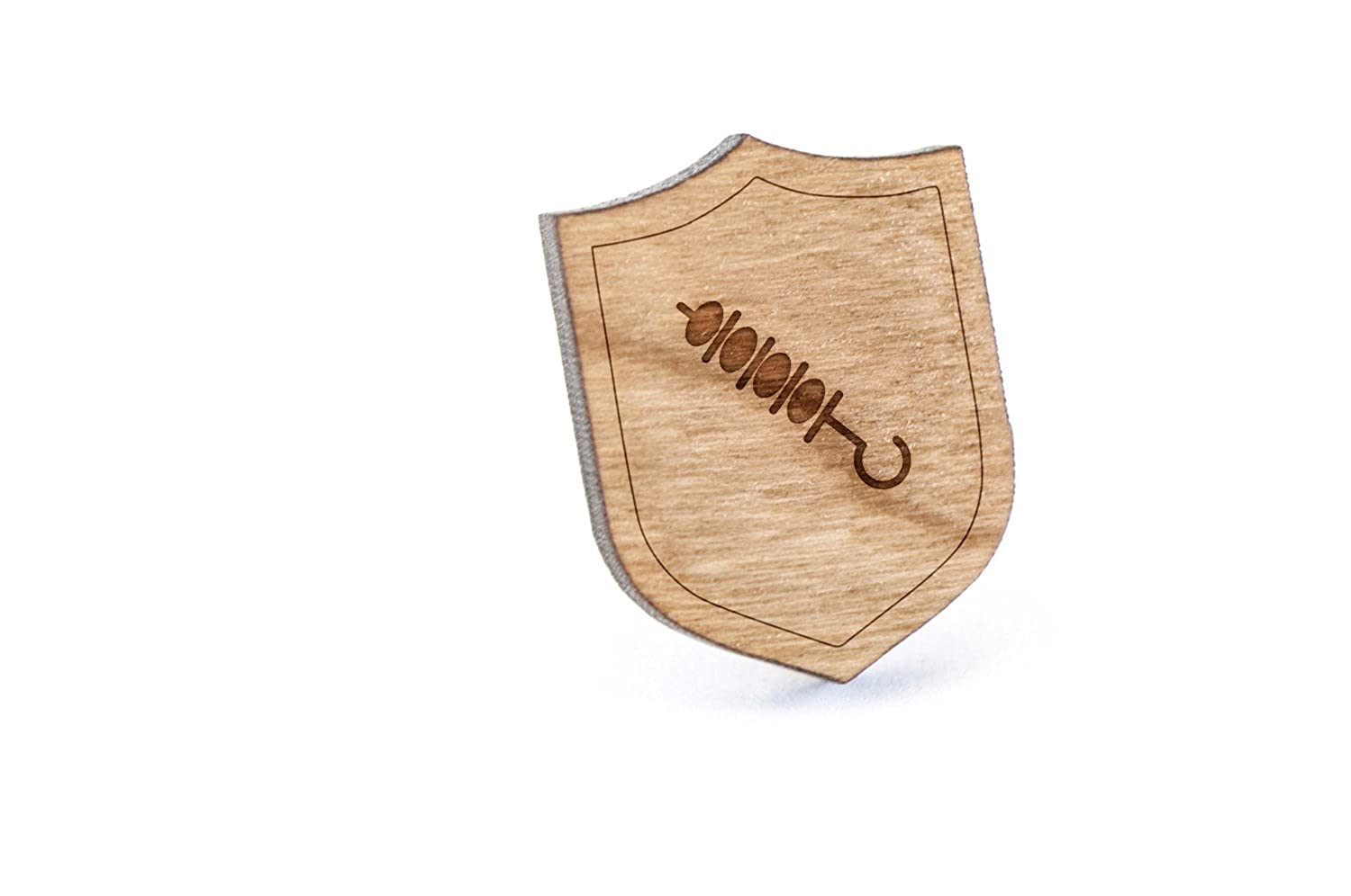 Wooden Pin Skewer Lapel Pin
