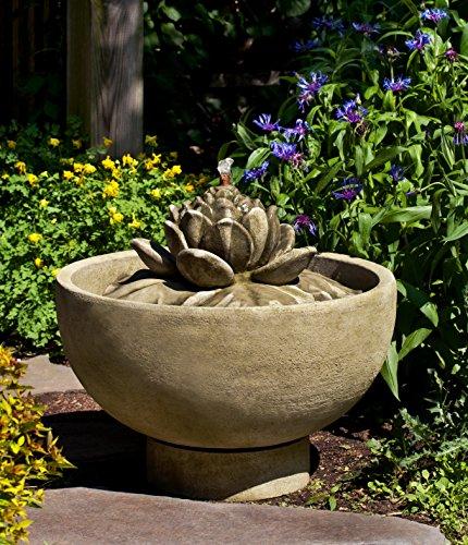 UPC 615976597579, Campania International FT-236-AS Smithsonian Lotus Fountain, Alpine Stone Finish
