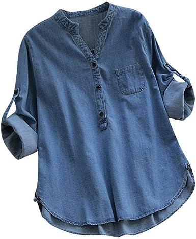 Tops De Mujer Rebajas Stand Liquidación Collar Button Camisa ...