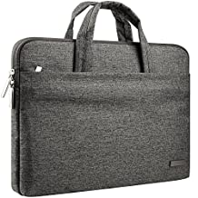 CCPK 15 inch Laptop Sleeve Briefcase Water Repellent Handbag for MacBook Pro 15.4-inch with Or Without Retina Display 15-15.6 inch Surface Dell HP Chromebook Carrying Case Notebook Bag, Black Gray