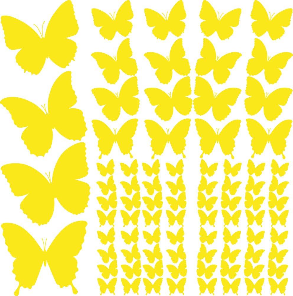 770064/_57/_010 GRAZDesign Wanddekoration Wandsticker 84 Schmetterlinge Set Geschenke f/ür Eltern Gro/ße und kleine Schmetterlinge Wandtattoo Wohnzimmer selbstklebend 58x57cm