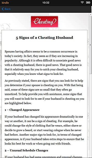 how do you know your husband is cheating on you