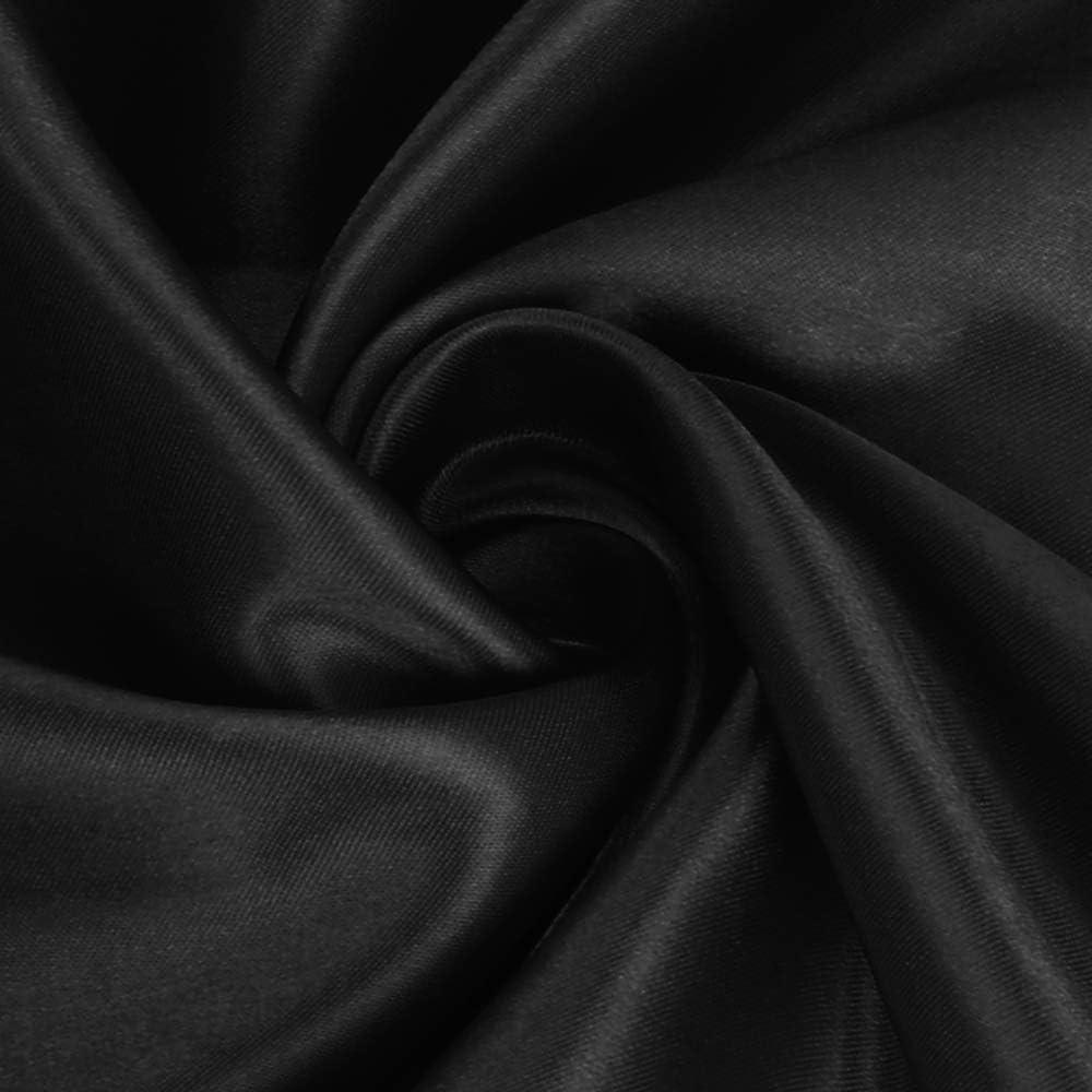 Senza Pieghe Set di 2 federe in Raso in Microfibra di Seta Resistenti allo sbiadimento per Letto King Size Dark Gray morbide Traspiranti King Lirex