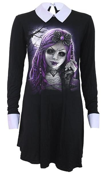 Spiral Goth Doll Vestido Negro Amazones Ropa Y Accesorios