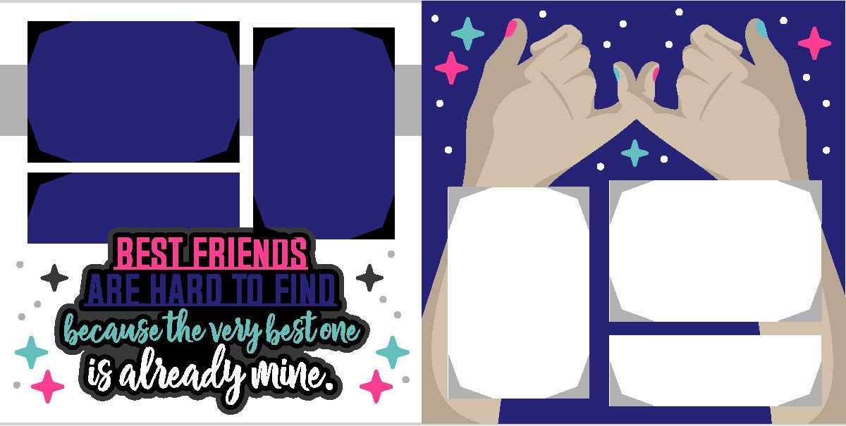 "12  "" BEST FRIENDS""  Die Cuts"