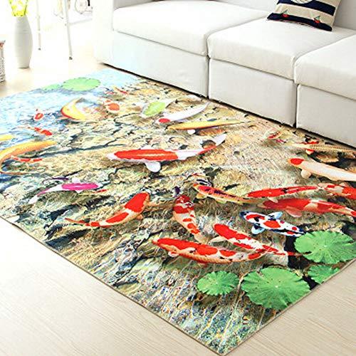 Enkoo Patrón de dibujos animados en 3D alfombra Sala de estar mesa de café alfombra dormitorio de los niños alfombra junto...