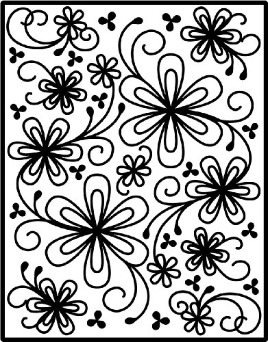 Spellbinders I2-1015 Impressabilities Flower Silhouette Template to Emboss/Deboss