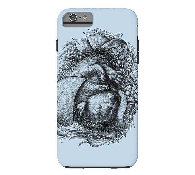 Amazon Com Cute Baby Hedgehog Iphone 6 Plus Beau Blue Tough Phone