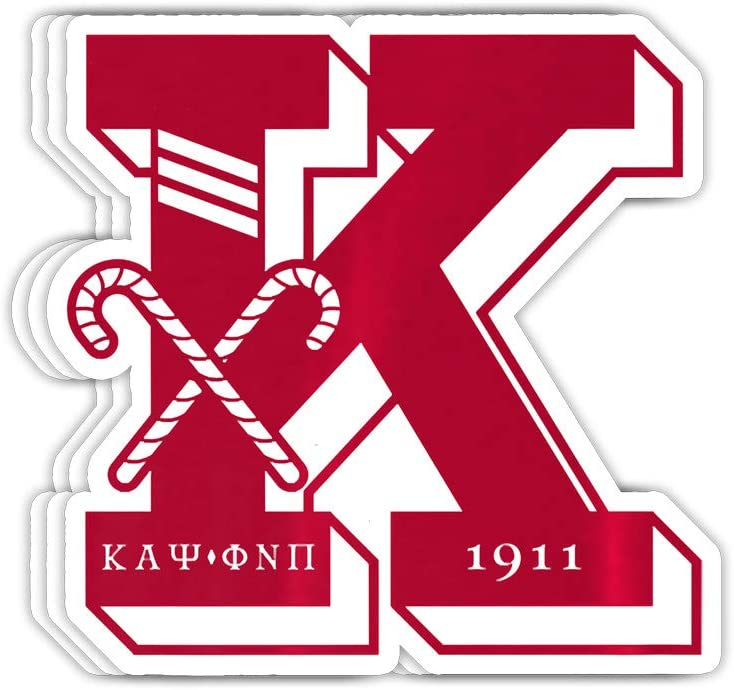 GreenTeeZ Mens Kappa Alpha Psi Fraternity, Inc. Gift Decorations - 4x3 Vinyl Stickers, Laptop Decal, Water Bottle Sticker (Set of 3)