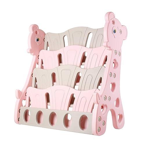 Bamny Kunststoff Bücherregal, Giraffe –Kinder Bücherregale für Mädchen
