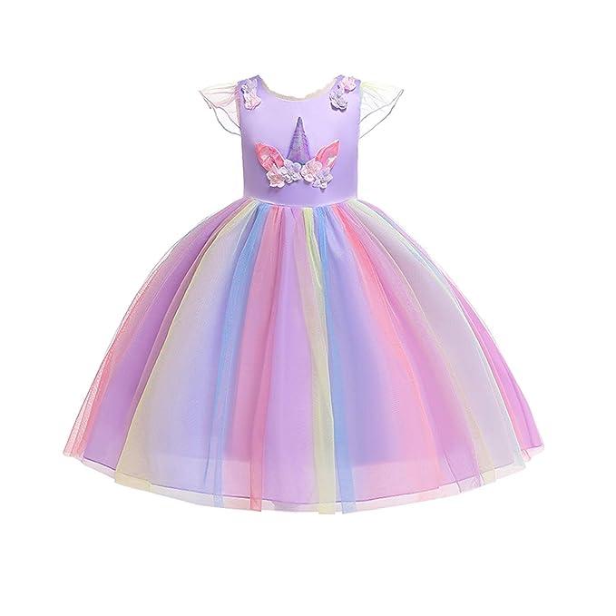 Amazon.com: Iridescent - Vestido de gasa para niños, diseño ...
