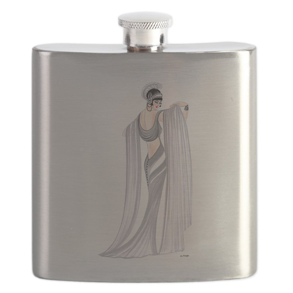 1920s Style Stockings, Tights, Fishnets & Socks CafePress - Selene.Png - Stainless Steel Flask 6oz Drinking Flask $21.99 AT vintagedancer.com