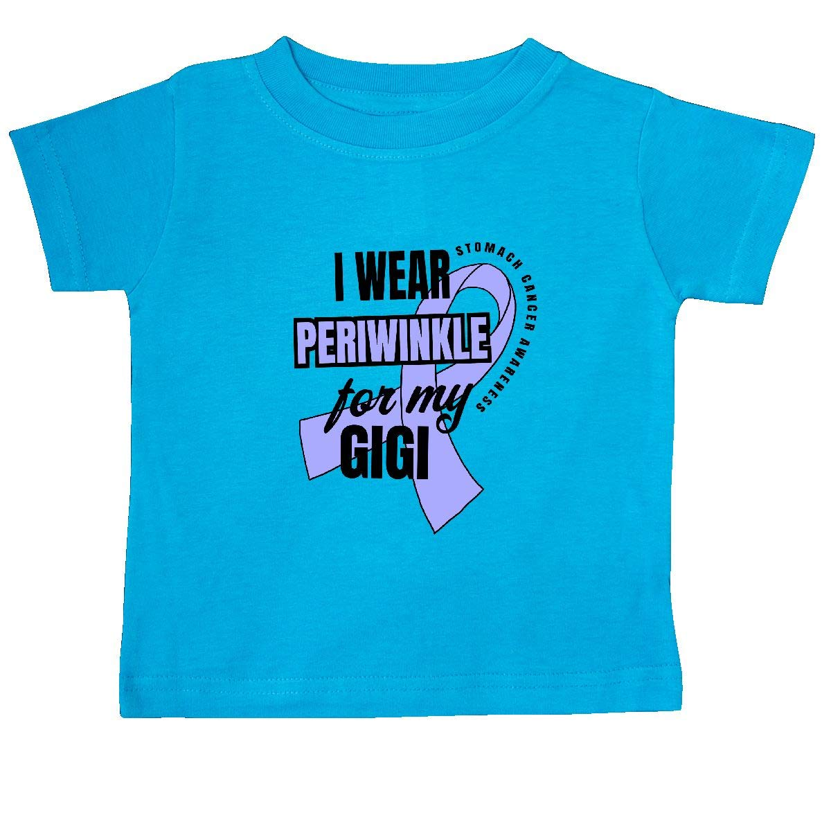 inktastic I Wear Periwinkle for My Gigi Stomach Cancer Awareness Baby T-Shirt