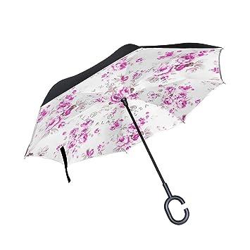 ISAOA Paraguas Grande Plegable de Doble Capa Resistente al Viento, protección UV, Paraguas para