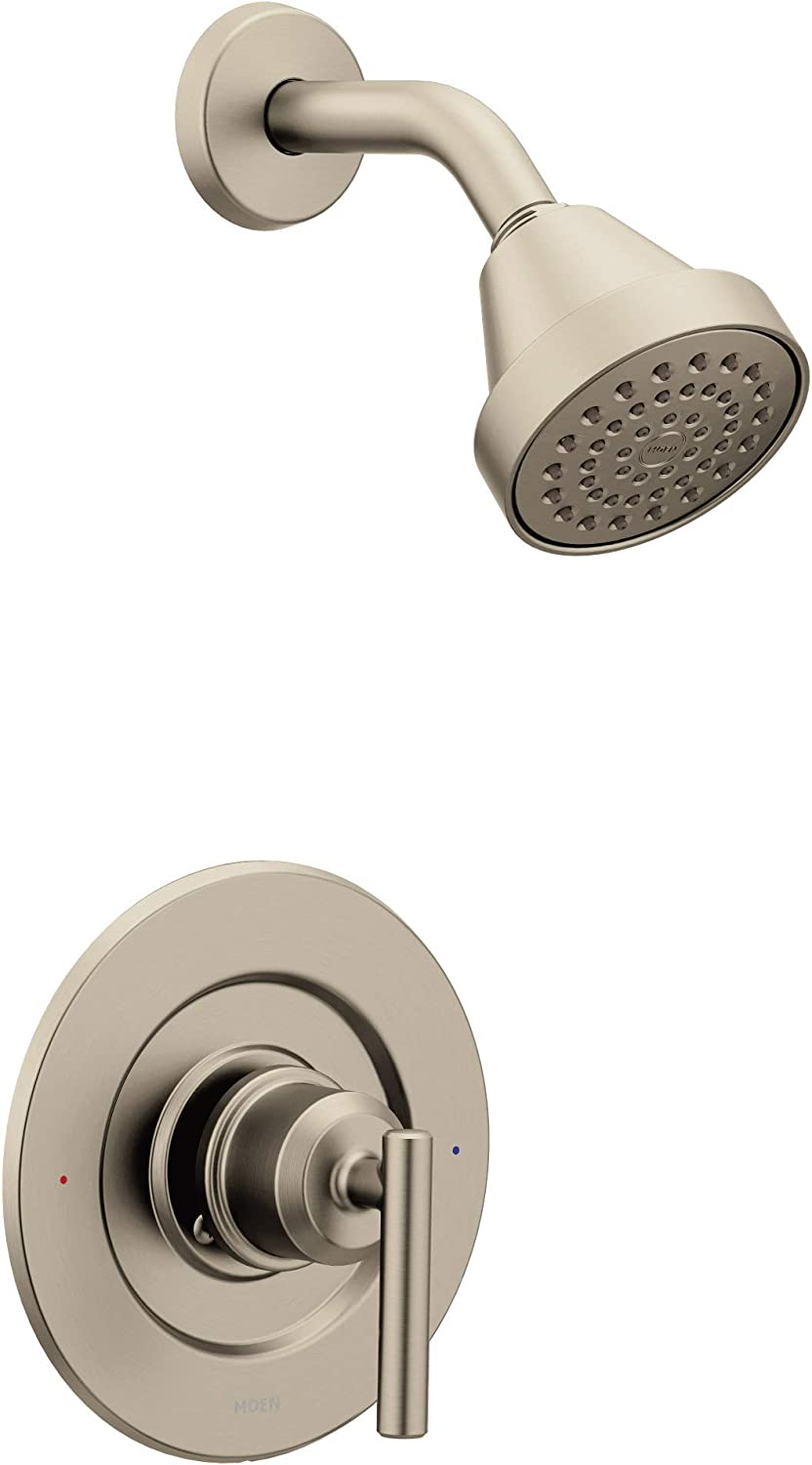 Moen T2902EPBL Gibson Posi-Temp Pressure Balancing Eco-Performance Modern Shower Only Trim, Valve Required, Matte Black - -