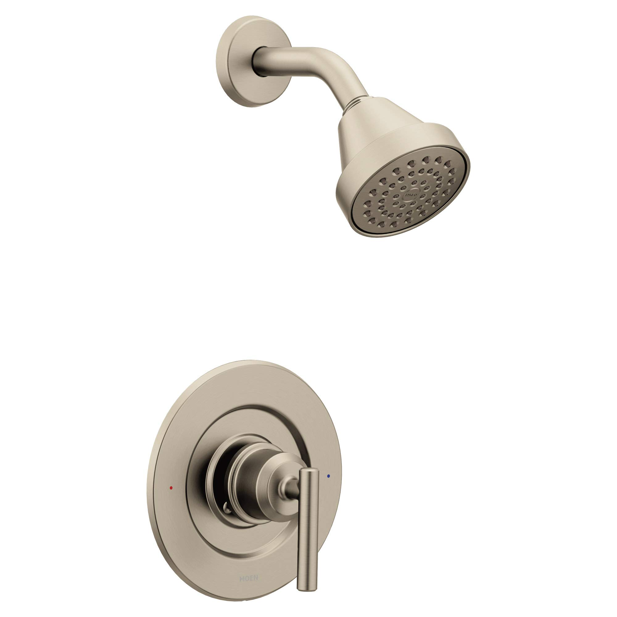 Moen T2902EPBN Gibson Posi-Temp Pressure Balancing Eco-Performance Modern Shower Only Trim, Valve Required, Brushed Nickel by Moen