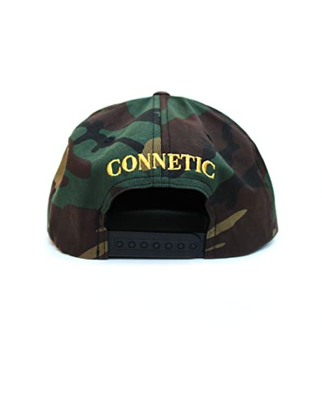 CONNETIC Henny Snapback Hat Camoflauge Green Embroidered Gold Logo at  Amazon Men s Clothing store  7261278fc2e5
