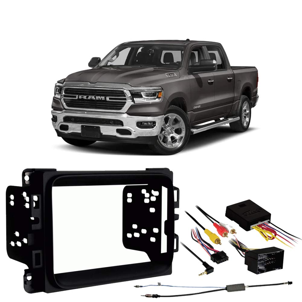 Ram 1500 2500 3500 2019 Double DIN Stereo Harness Radio Install Dash Kit Package