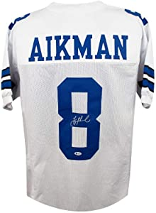 Troy Aikman Autographed Dallas Cowboys Custom White Football Jersey - BAS COA