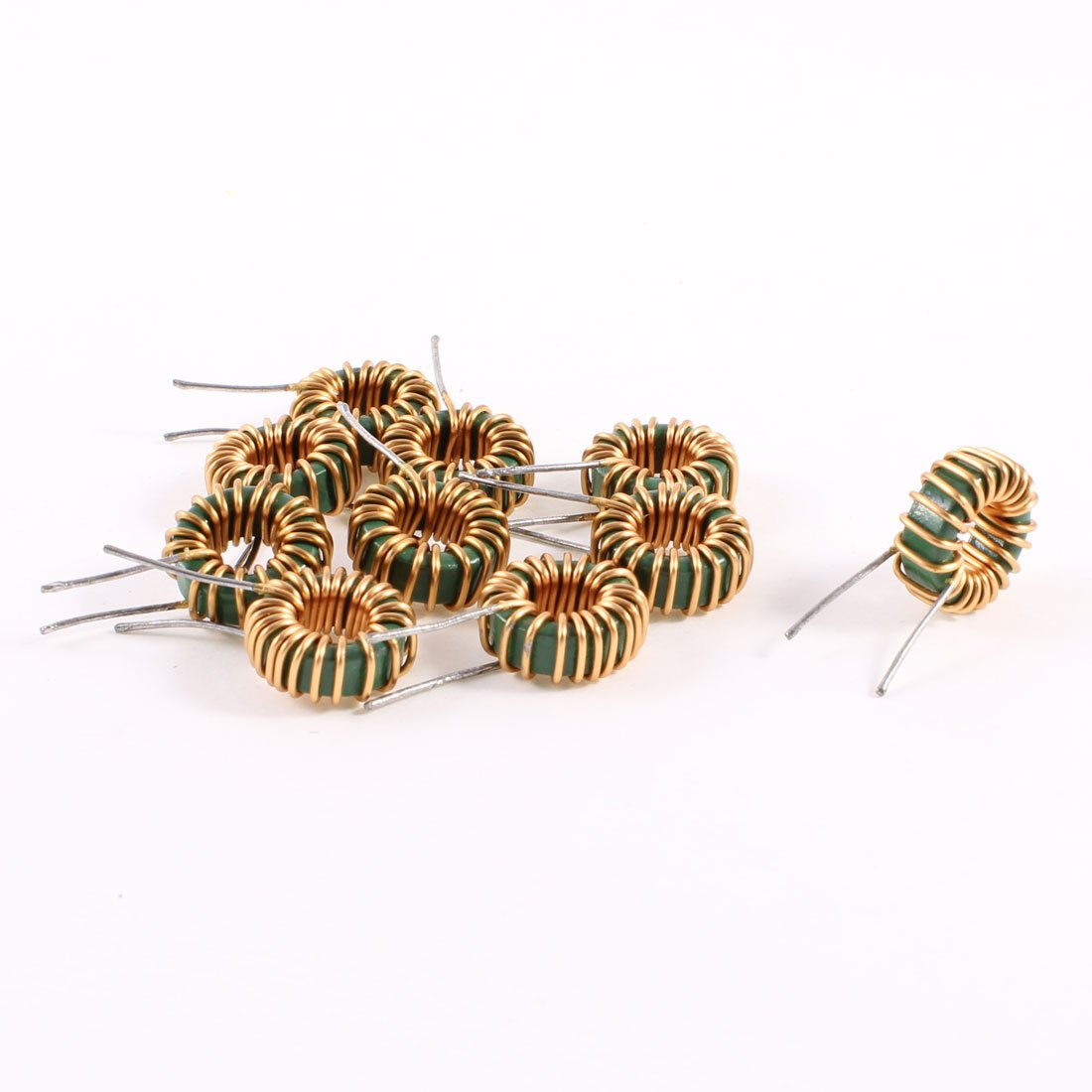 Uxcell a13071500ux0189 10 Piece Toroid Core Inductor Wire Wind Wound 3MH 40mOhm 3 Amp, Coil