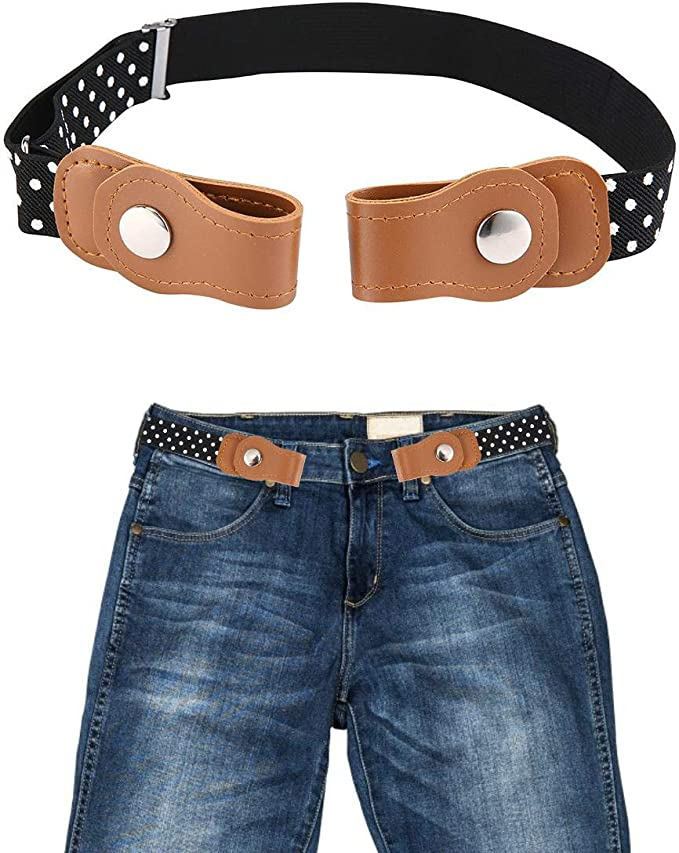 Boys Girls Buckle Free Stretch Belt Jeans Waistband Waist Belt Adjustable Kids