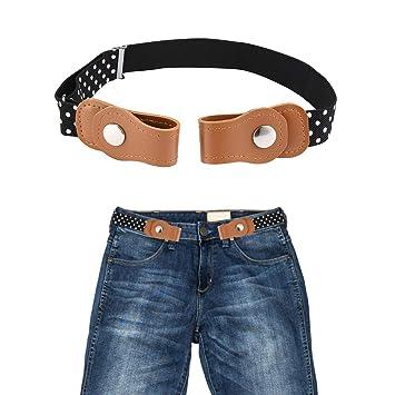 No Buckle Adjustable Belt For Girls Buckle Free Kids Stretch Belt for Jeans Pants Flag 003