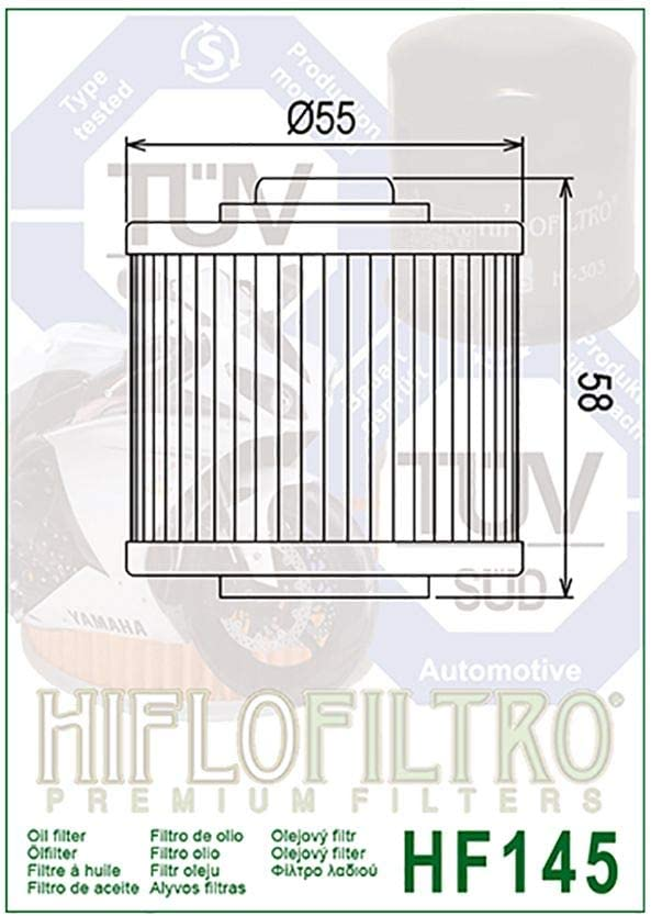 Filtre /à huile Hiflo XT 600 H 2KF 87-90