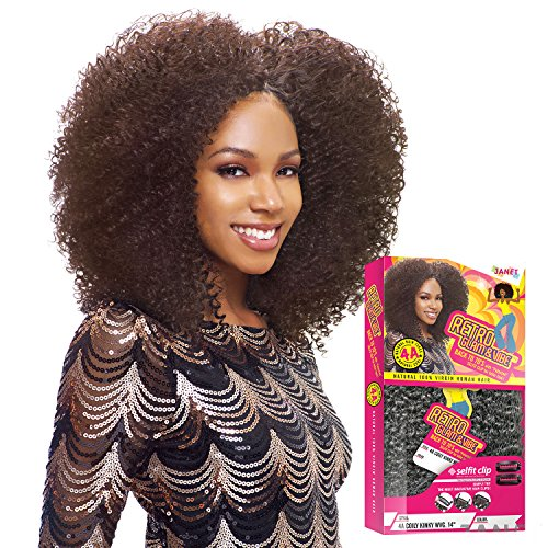 Janet Collection Virgin Human Hair Weave Retro Glam&Vibe 4A Coily Kinky Wvg (18