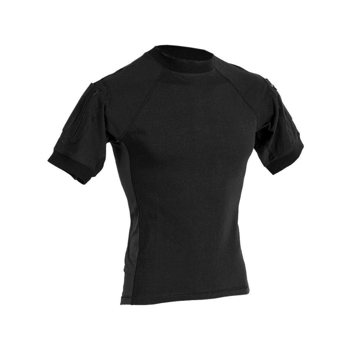 VooDoo Tactical 01-9583001094 Combat Short Sleeve Shirt, Black, Large
