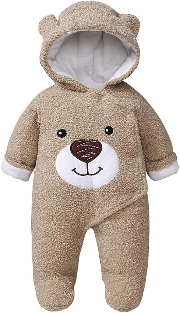 Vimukun Bambino Cappuccio Pagliaccetto Tuta Infantile Flanella Orso Outfits Ragazzi Ragazze Autunno Inverno Tutina Footies Abiti