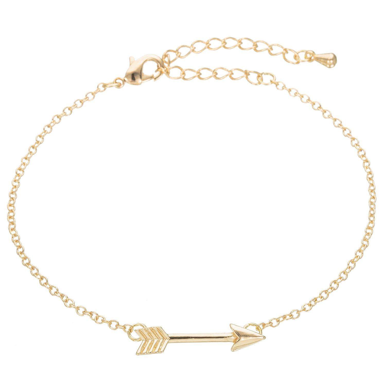 WeiVan Arrow Bracelet Dainty Minimalist Jewelry Arrow Charm Bracelet Girlfriend Bridesmaid Gift B075N4C6KX_US