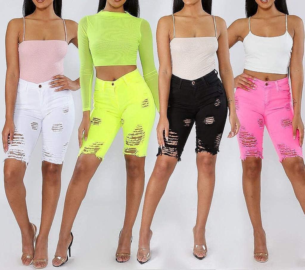 Amazon.com: Pantalones cortos de mujer sexy y desgastados ...