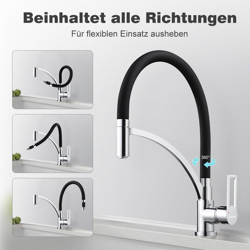 Tolle Schwarz Küchenarmatur Mit Sprüher Zeitgenössisch - Küchen ...