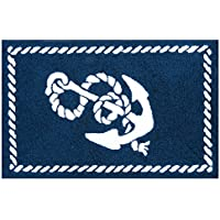 C&F Home 44450140 Hooked Knotty Buoy Anchor Coastal Rug, Blue